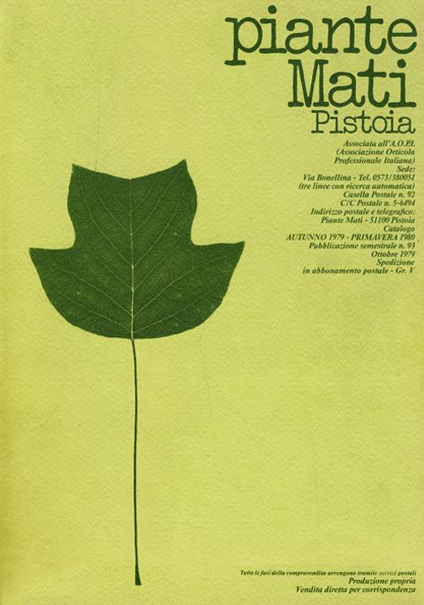 Plantes MATI Catalogue 1979 - 1980