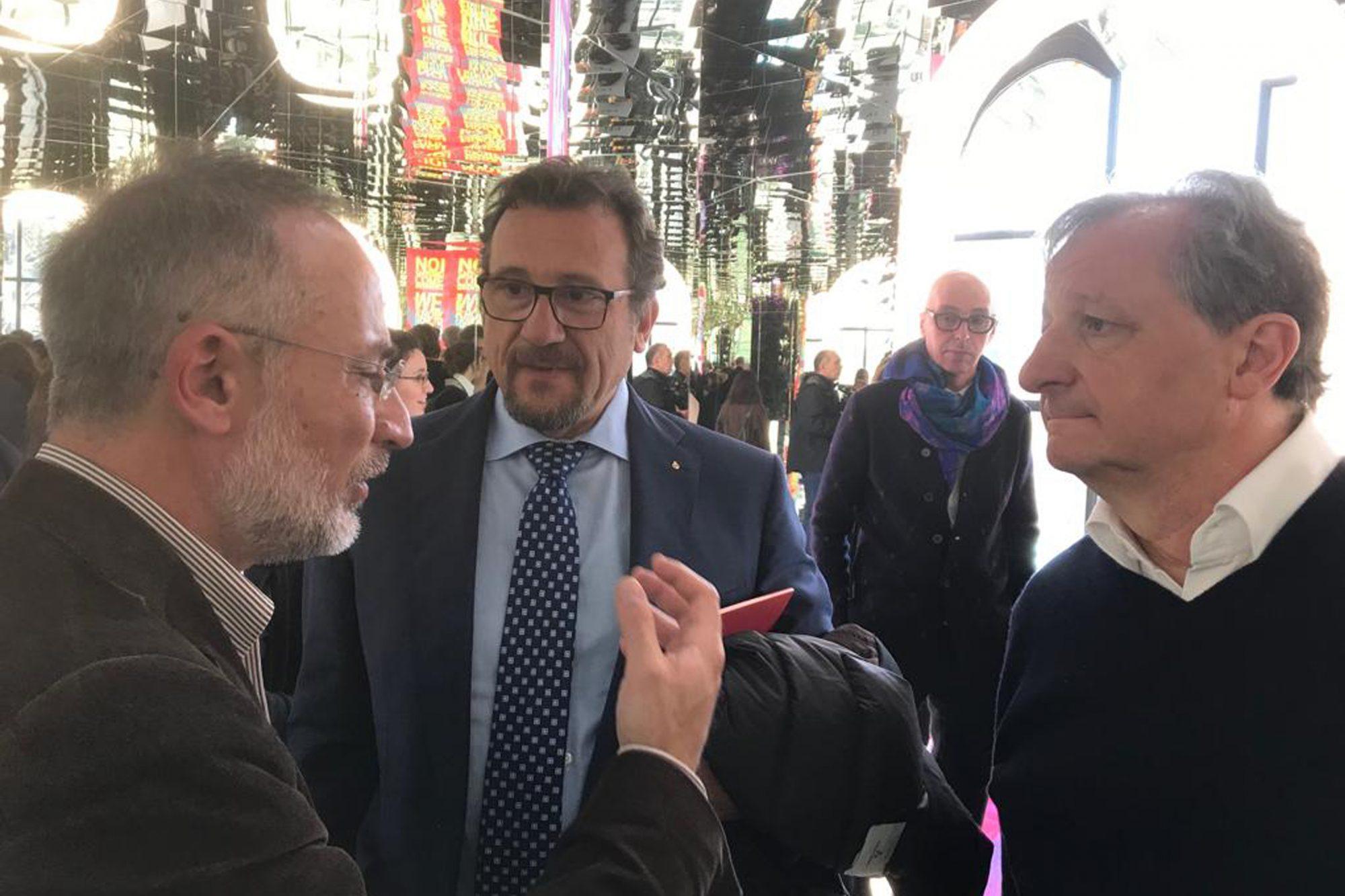 Andrea e Francesco MATI insieme a Stefano Mancuso